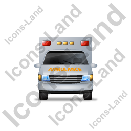 Ambulance Front Yellow Icon