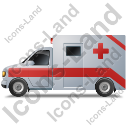 Ambulance Left Red Icon