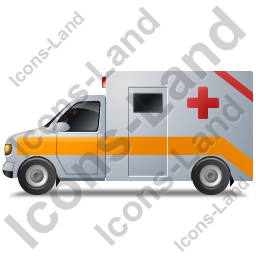 Ambulance Left Yellow Icon