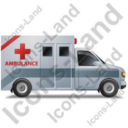 Ambulance Right Grey Icon, PNG/ICO, 256x256