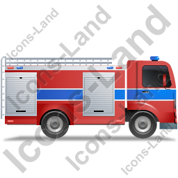 Fire Truck Right Blue Icon