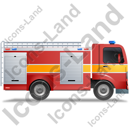 Fire Truck Right Yellow Icon