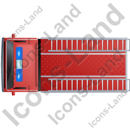 Fire Truck Top Red Icon, PNG/ICO, 256x256