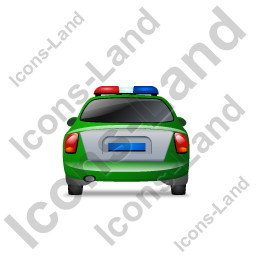 Police Back Green Icon, PNG/ICO, 256x256