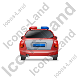 Police Back Red Icon, PNG/ICO, 256x256