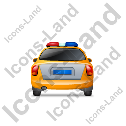 Police Back Yellow Icon, PNG/ICO, 256x256