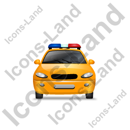 Police Front Yellow Icon, PNG/ICO, 256x256