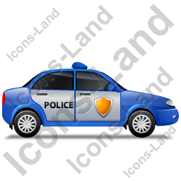 Police Right Blue Icon, PNG/ICO, 256x256