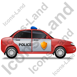 Police Right Red Icon, PNG/ICO, 256x256