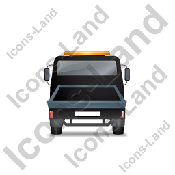 Recovery Truck Back Black Icon, PNG/ICO, 256x256