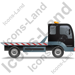 Recovery Truck Right Black Icon, PNG/ICO, 256x256