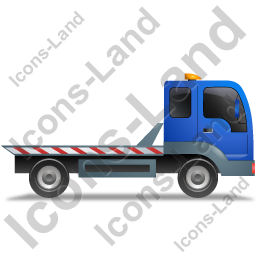 Recovery Truck Right Blue Icon, PNG/ICO, 256x256