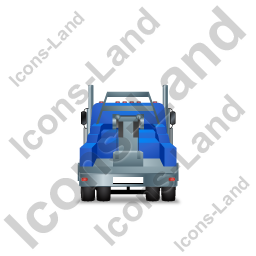 Tow Rig Back Blue Icon, PNG/ICO, 256x256
