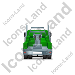 Tow Rig Back Green Icon, PNG/ICO, 256x256