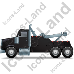 Tow Rig Left Black Icon