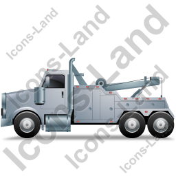 Tow Rig Left Grey Icon