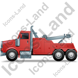 Tow Rig Left Red Icon