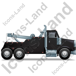 Tow Rig Right Black Icon, PNG/ICO, 256x256