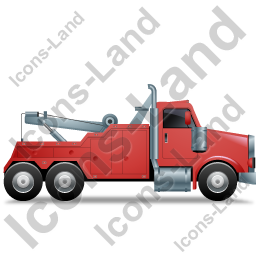 Tow Rig Right Red Icon, PNG/ICO, 256x256