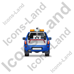 Tow Truck Back Blue Icon