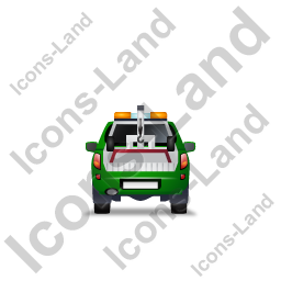 Tow Truck Back Green Icon