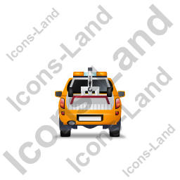 Tow Truck Back Yellow Icon, PNG/ICO, 256x256