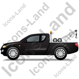 Tow Truck Left Black Icon, PNG/ICO, 256x256