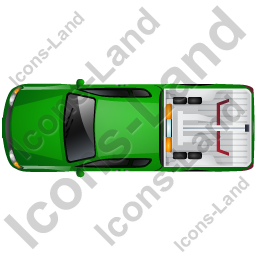 Tow Truck Top Green Icon, PNG/ICO, 256x256