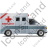 Ambulance Right Grey Icon, PNG/ICO, 48x48