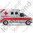 Ambulance Right Red Icon