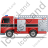 Fire Truck Left Black Icon, PNG/ICO, 48x48