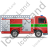 Fire Truck Right Green Icon, PNG/ICO, 48x48