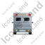 Ambulance Back Grey Icon, PNG/ICO, 64x64