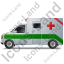 Ambulance Left Green Icon