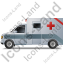 Ambulance Left Grey Icon