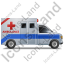 Ambulance Right Blue Icon