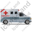 Ambulance Right Grey Icon, PNG/ICO, 64x64