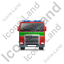 Fire Truck Front Green Icon, PNG/ICO, 64x64