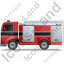Fire Truck Left Black Icon, PNG/ICO, 64x64