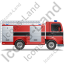 Fire Truck Right Black Icon
