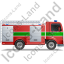 Fire Truck Right Green Icon, PNG/ICO, 64x64