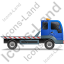 Recovery Truck Right Blue Icon, PNG/ICO, 64x64
