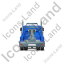 Tow Rig Back Blue Icon, PNG/ICO, 64x64