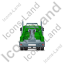 Tow Rig Back Green Icon, PNG/ICO, 64x64
