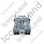 Tow Rig Back Grey Icon, PNG/ICO, 64x64