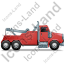 Tow Rig Right Red Icon, PNG/ICO, 64x64