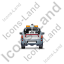 Tow Truck Back Grey Icon
