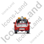 Tow Truck Back Red Icon