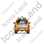 Tow Truck Back Yellow Icon, PNG/ICO, 64x64