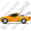 Tow Truck Left Yellow Icon, PNG/ICO, 64x64